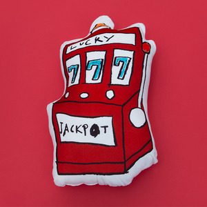 jackpot cushion(red)